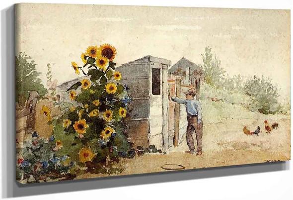 Backyard, Summer By Winslow Homer