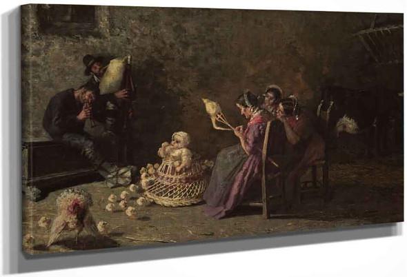 Bagpipers Of Brianza By Giovanni Segantini