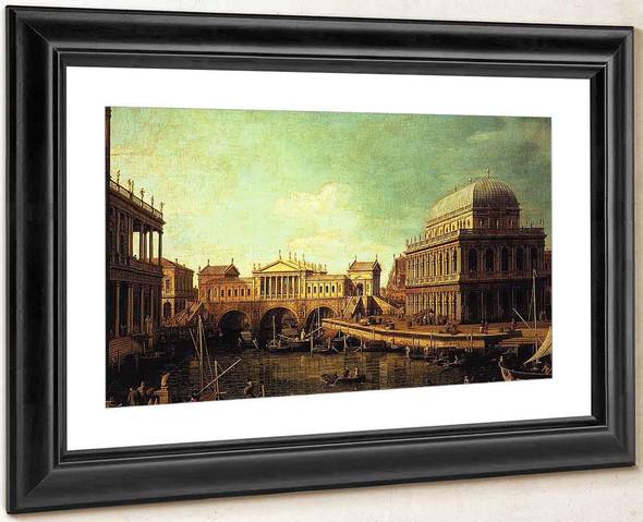 Basilica Di Vecenza And The Ponte De Rialto By Canaletto By Canaletto