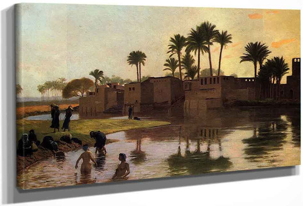 Bathers By The Edge Of A River By Jean Leon Gerome