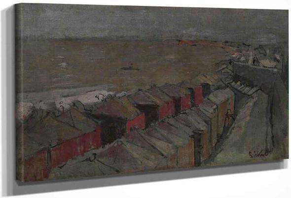 Bathing Huts, Dieppe By Walter Richard Sickert By Walter Richard Sickert