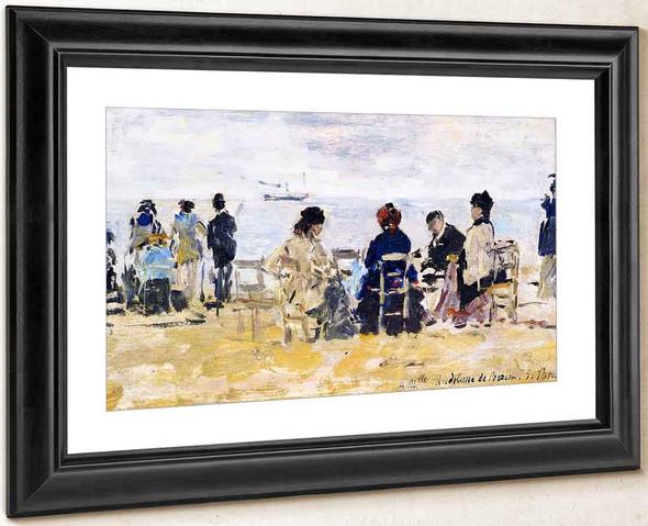 Beach Scene121 By Eugene Louis Boudin