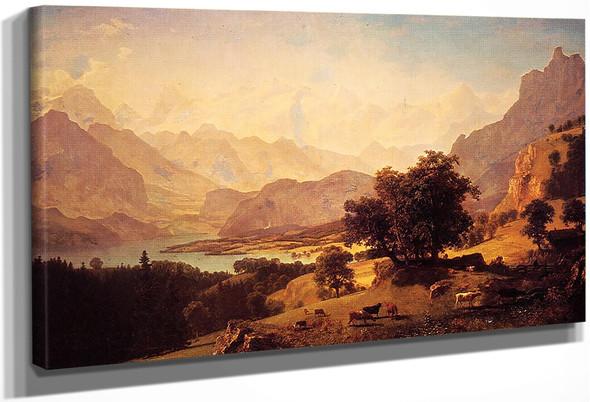 Bernese Alps, As Seen Near Kusmach By Albert Bierstadt