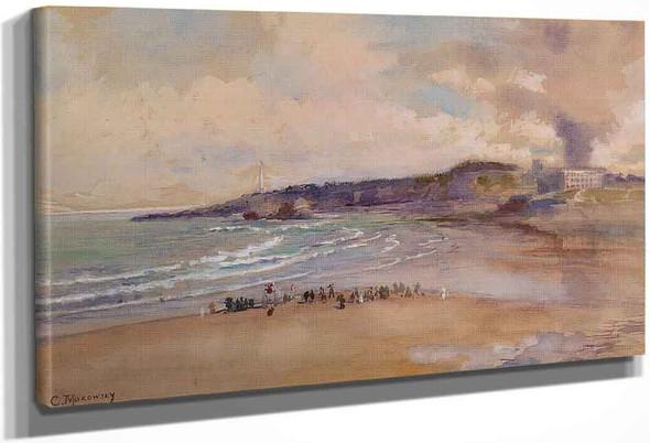 Biarritz By Konstantin Yegorovich Makovsky