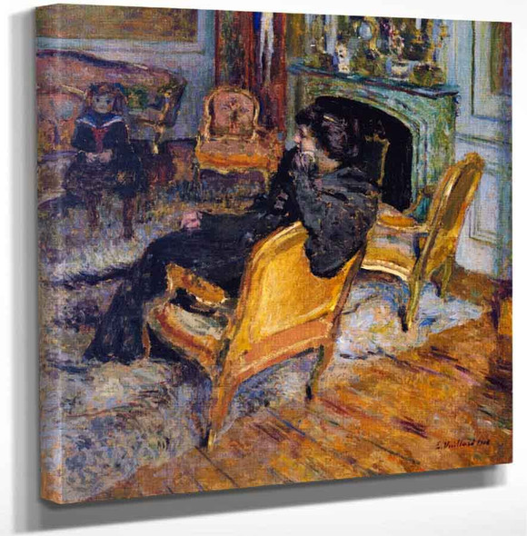 The Gilded Chair Madame George Feydeau And Her Son By Edouard Vuillard Art Reproduction