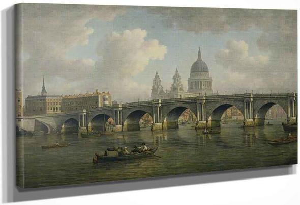 Blackfriars Bridge And St Paul's, London By William Marlow