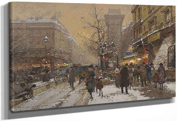 Boulevard In Paris By Eugene Galien Laloue