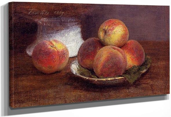 Bowl Of Peaches By Henri Fantin Latour By Henri Fantin Latour