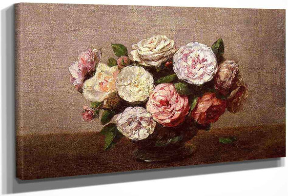 Bowl Of Roses By Henri Fantin Latour By Henri Fantin Latour