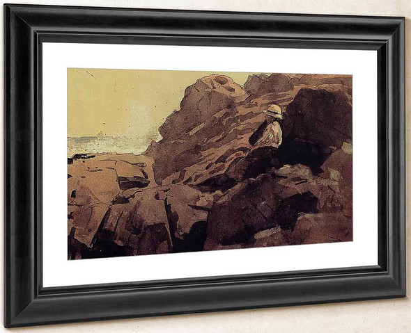 Boy On The Rocks By Winslow Homer