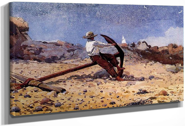 Boy With Anchor By Winslow Homer
