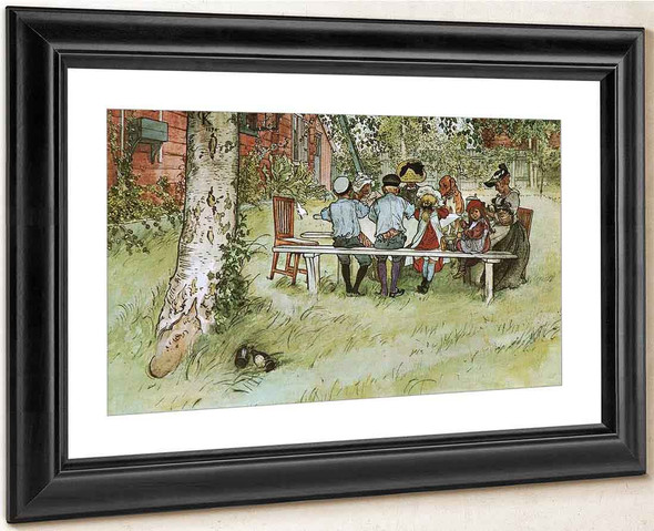Breakfast Under The Big Birch By Carl Larsson