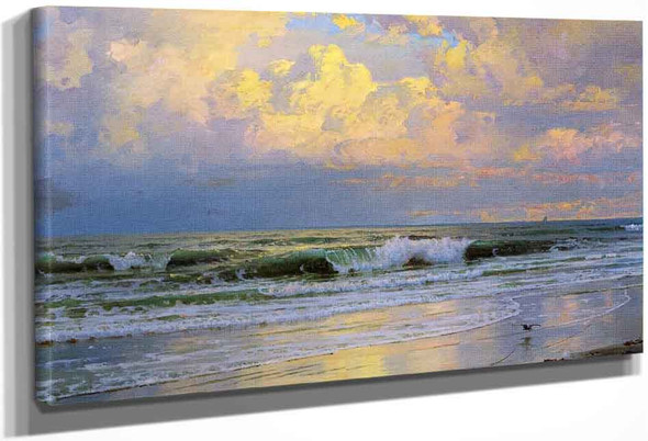 Breaking Waves By William Trost Richards By William Trost Richards