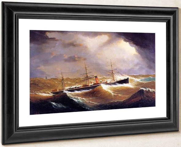British Steamer Galia By James E. Buttersworth