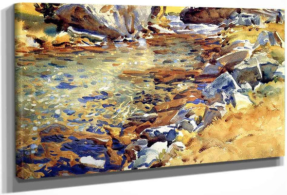 Brook Among The Rocks By John Singer Sargent By John Singer Sargent