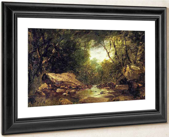 Brook In The Catskills By John Frederick Kensett By John Frederick Kensett