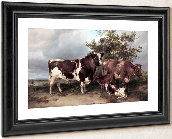 Bull, Cow And Calf By Thomas Sidney Cooper By Thomas Sidney Cooper