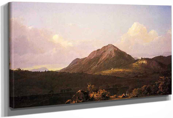 Camp Fire In The Maine Wilderness By Frederic Edwin Church By Frederic Edwin Church