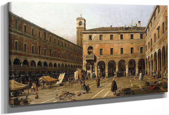Campo Di Rialto By Canaletto By Canaletto