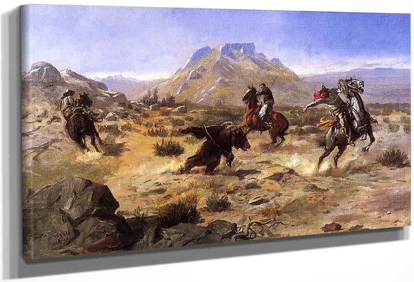 Capturing The Grizzly By Charles Marion Russell