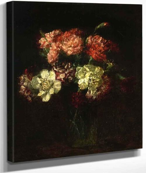 Carnations By Henri Fantin Latour By Henri Fantin Latour