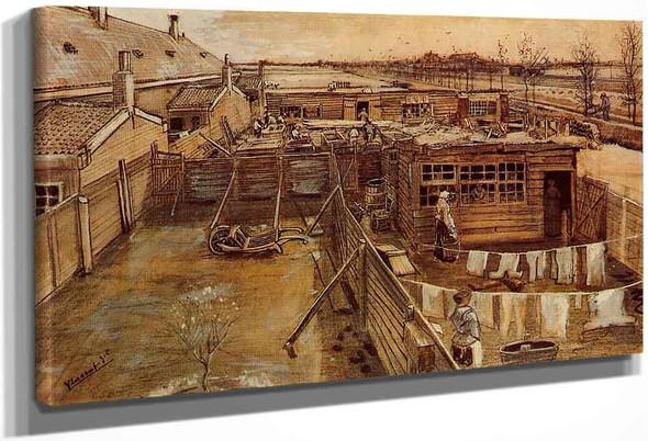 Carpenter's Workshop, Seen From The Artist's Studio By Vincent Van Gogh