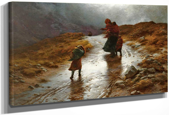 Cauld Blaws The Wind Frae East To West By Joseph Farquharson