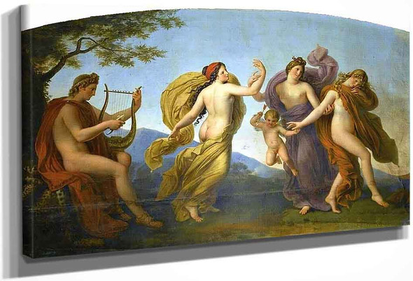 Ceiling Of The Ballroom Of Compiegne Castle, Dance Of The Graces Directed By Apollo By Anne Louis Girodet De Roussy Trioson
