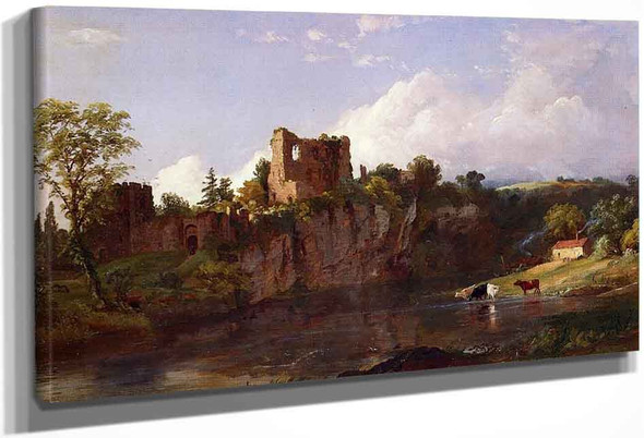 Chepstow Castle On The Wye By Jasper Francis Cropsey By Jasper Francis Cropsey