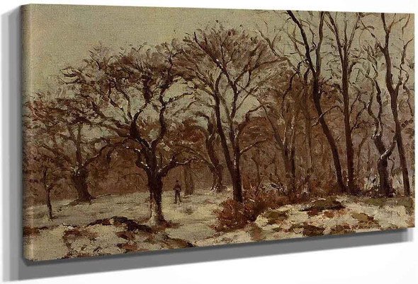 Chestnut Orchard In Winter By Camille Pissarro