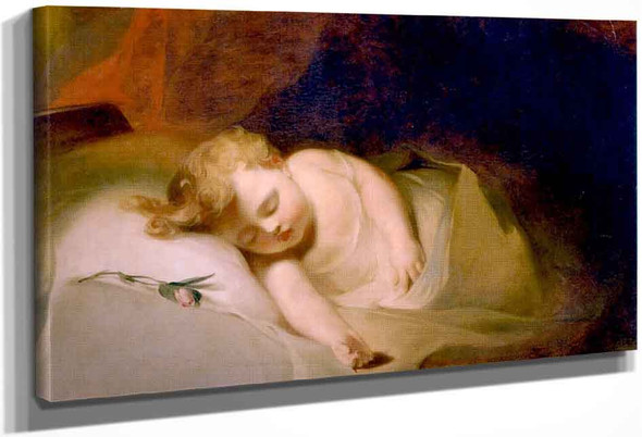 Child Asleep By Thomas Sully