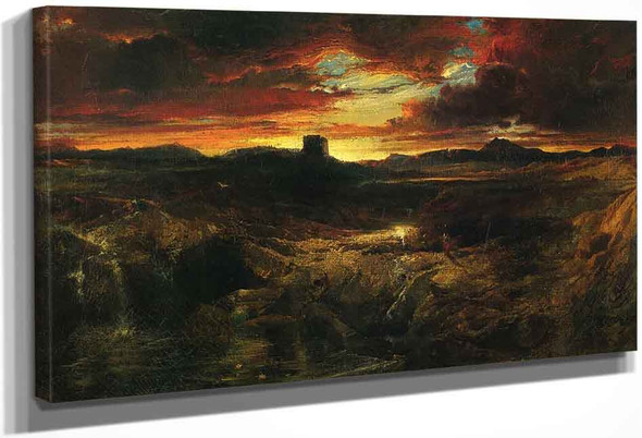 Childe Roland To The Dark Tower Came By Thomas Moran