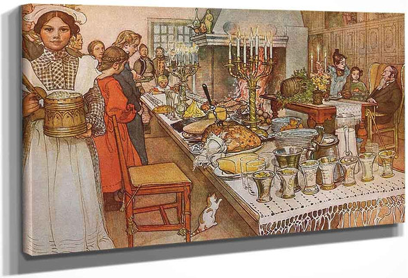 Christmas Eve By Carl Larsson
