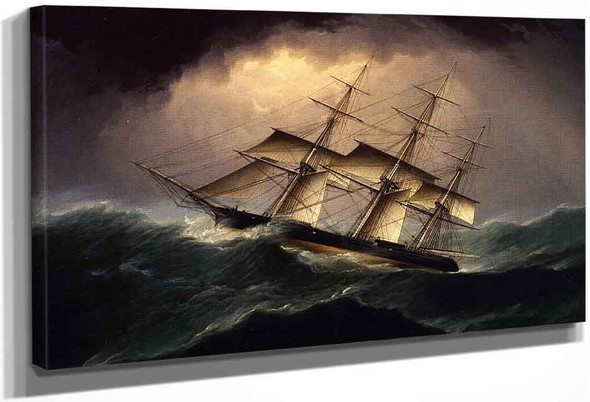 Clipper In A Heavy Sea By James E. Buttersworth