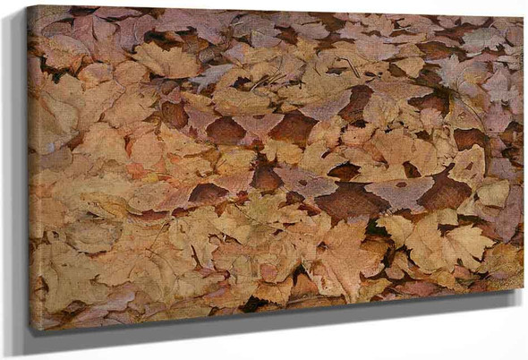 Copperhead Snake On Dead Leaves By Abbott Handerson Thayer