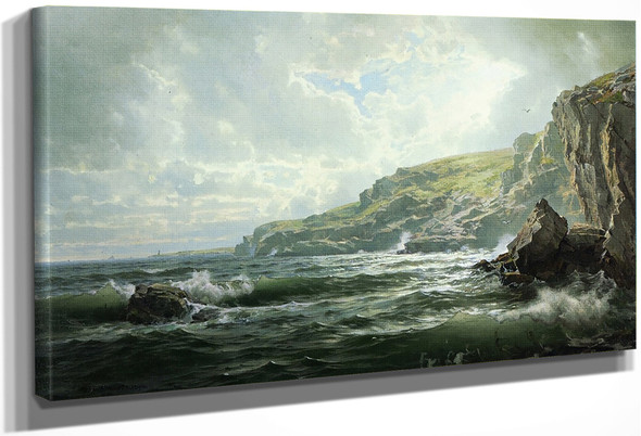 Crashing Waves By William Trost Richards By William Trost Richards