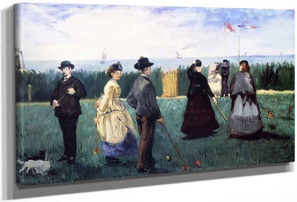 Croquet At Boulogne By Edouard Manet