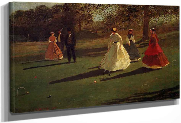 Croquet Players1 By Winslow Homer