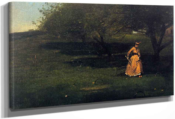 Croquet Player By Winslow Homer