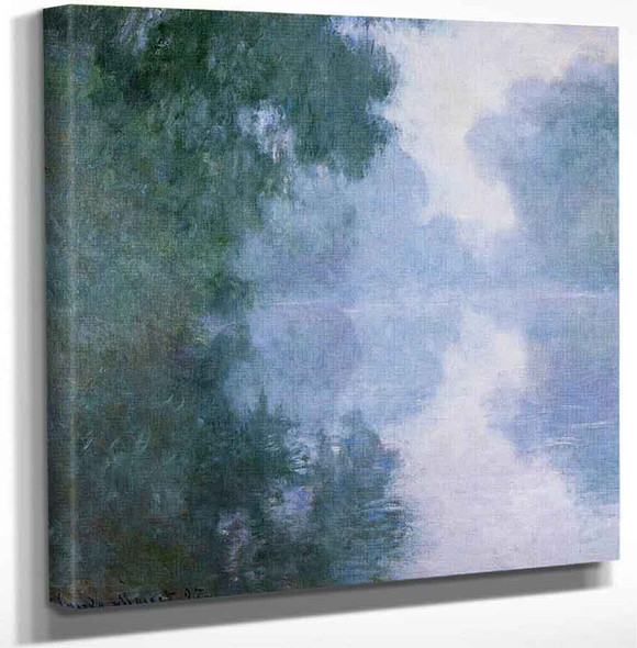 The Seine At Giverny Morning Mists By Claude Oscar Monet Art Reproduction