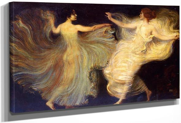 Dancers By Franz Von Stuck