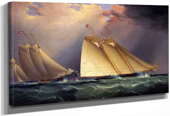 Dauntless And Sappho Rounding The Mark, 1871 By James E. Buttersworth