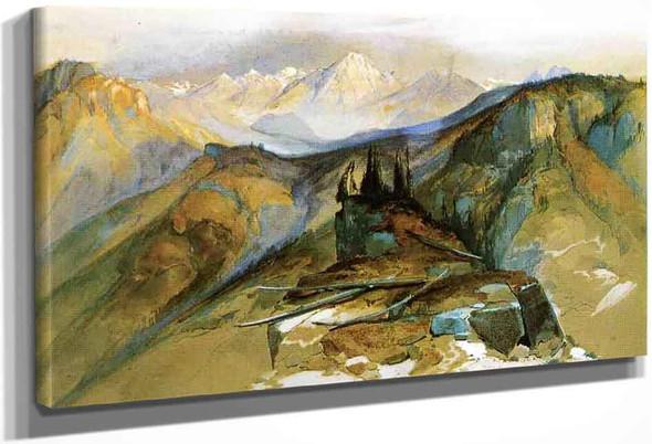 Distant Peaks By Thomas Moran