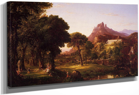 Dream Of Arcadia By Thomas Cole By Thomas Cole