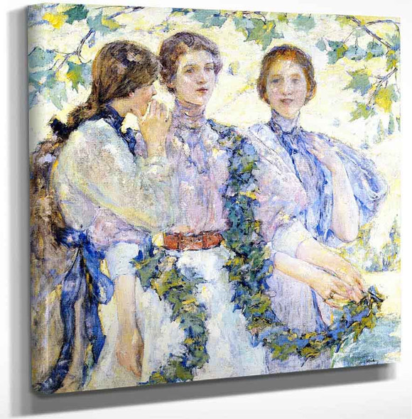 The Trio By Robert Lewis Reid Art Reproduction