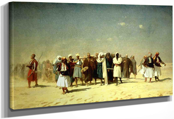 Egyptian Recruits Crossing The Desert By Jean Leon Gerome