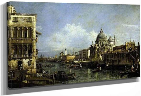 Entrance To The Grand Canal, Venice By Bernardo Bellotto