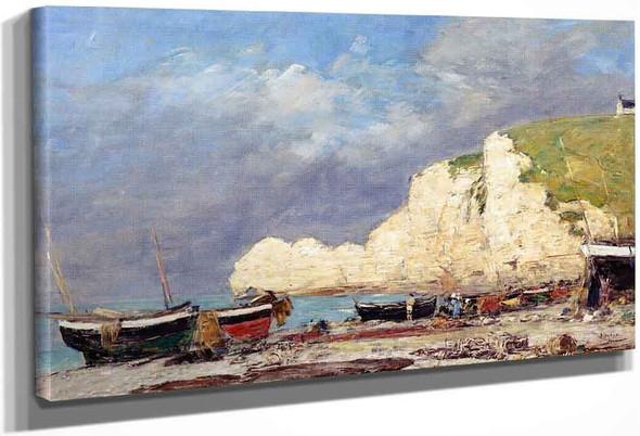 Etretat, The Falaise Damont By Eugene Louis Boudin