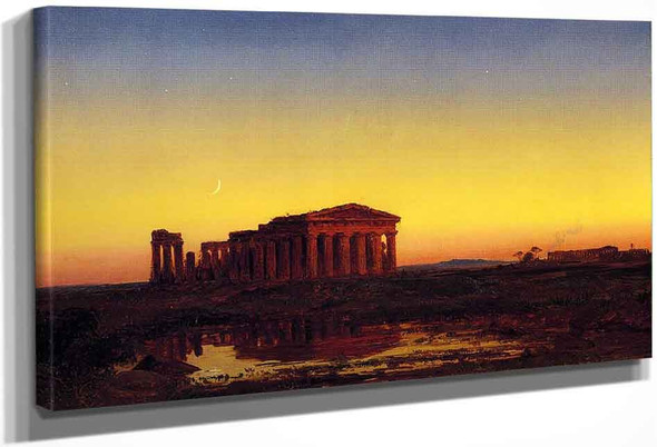 Evening At Paestum By Jasper Francis Cropsey By Jasper Francis Cropsey