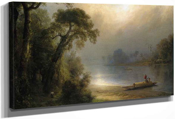 Evening In The Tropics By Frederic Edwin Church By Frederic Edwin Church